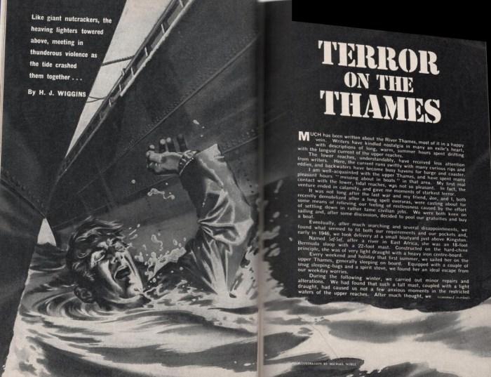 "Wide World October 1962 p234-235 ""Terror on the Thames"" by H. J. Higgins"
