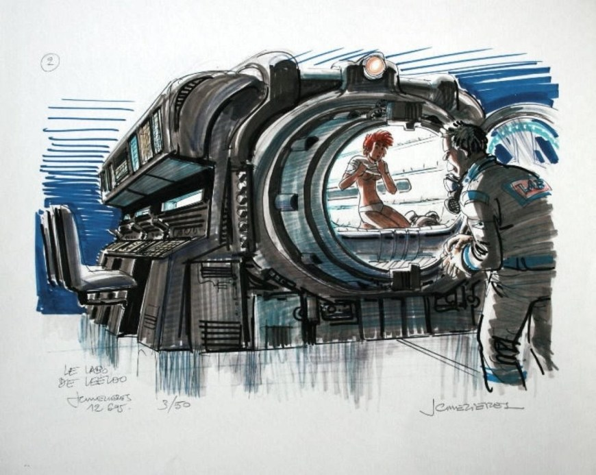 Concept art for The Fifth Element by Jean-Claude Mézières