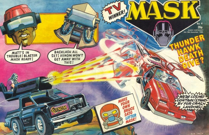 M.A.S.K. #4 cover by Ron Smith, with thanks to Darren Gregson