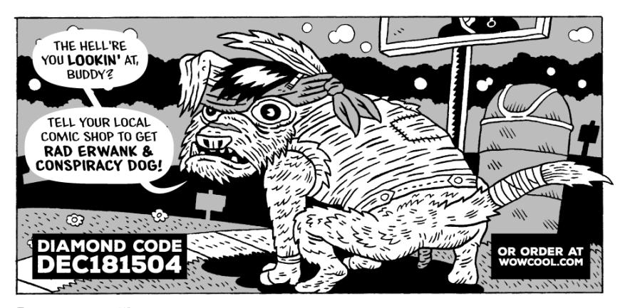 pre-orderRad Erwank & Conspiracy Dog