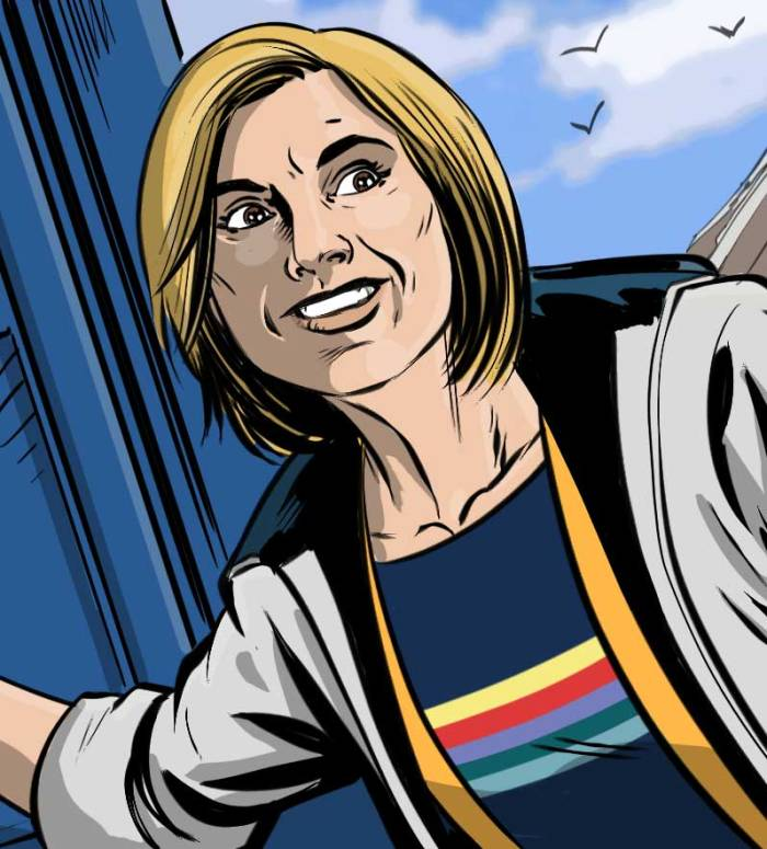 The Thirteenth Doctor by Russell Leach, for the Doctor Who Adventures Special 2019 from Panini