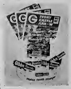 The Gibbs Ivory Castle Display offered to participating shops selling the toothpaste