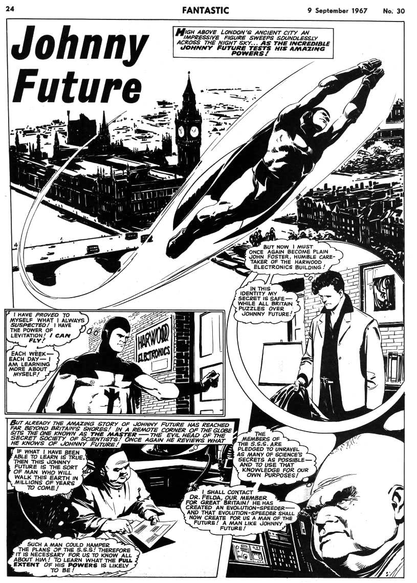 Swinging Sixties British superhero Johnny Future returns! Collection out next year