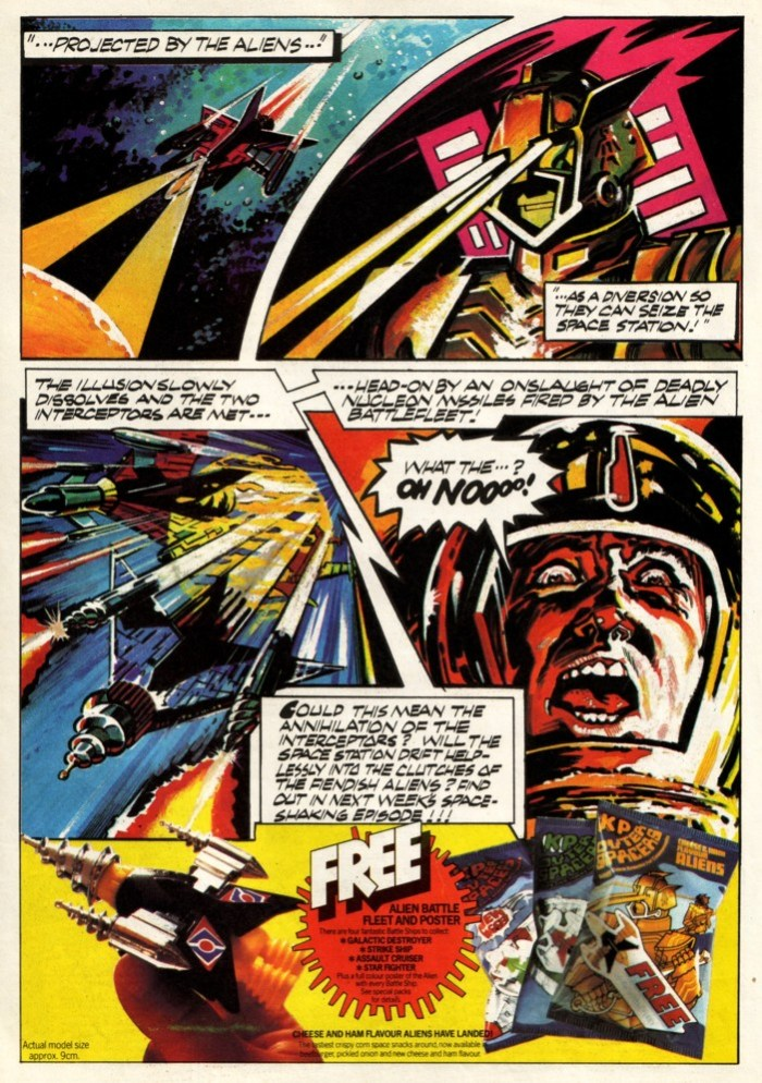 KP Outer Spacers Ad - Eagle cover dated 18th September 1982