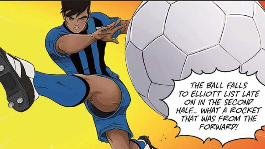 Elliott List's winner for Gillingham against Cardiff City features in the limited edition Roy of the Rovers comic