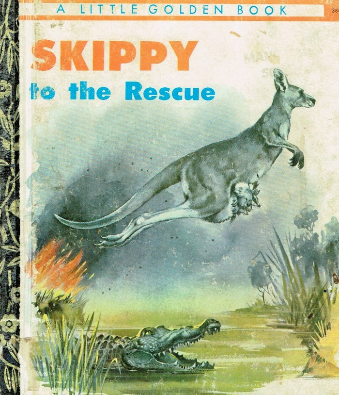 Skippy to the Rescue Golden Book (1970s)