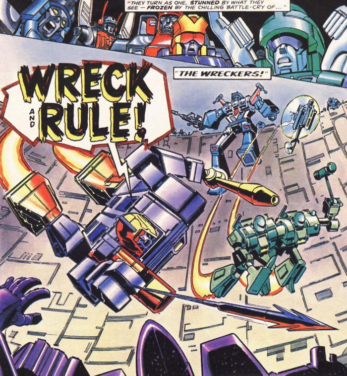 Transformers - Target 20006 - Wreckers- art by Ron Smith