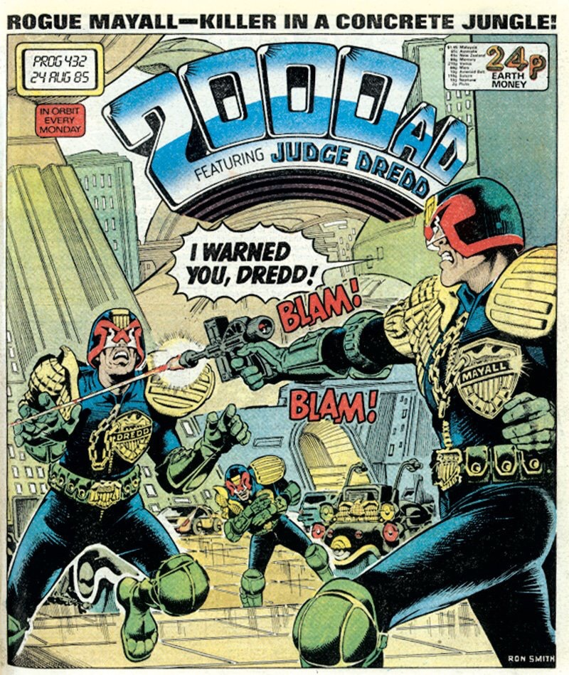 2000AD Prog 432 - Cover by Ron Smith