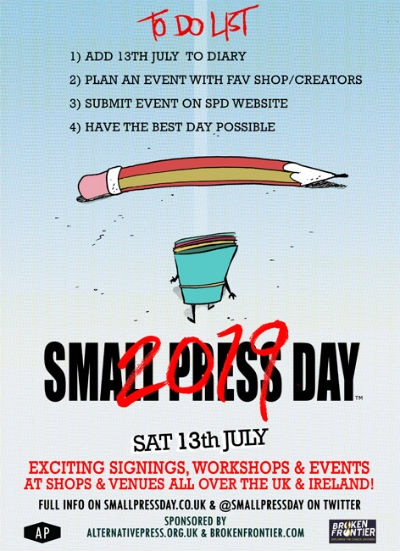 Small Press Day 2019 To Do List