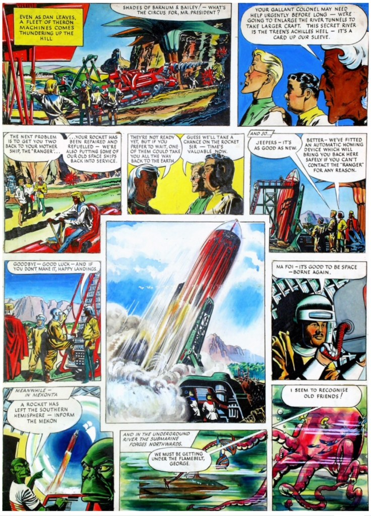 """Dan Dare"" art for Eagle Volume One, Issue 41"