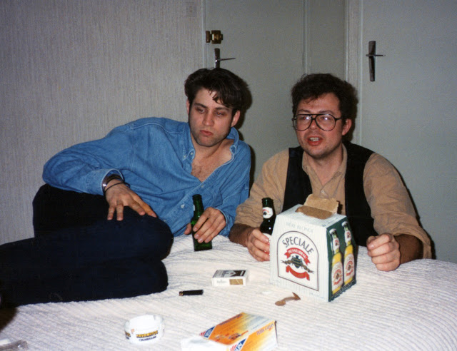 Art Young (left) and Paul Johnson in Angouleme, circa January 1993