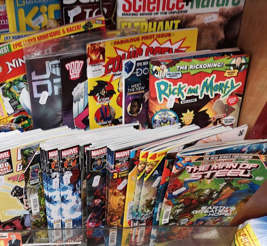 Some of the titles aimed at teenagers on the British news stand in February 2019. Photo: David McDonald