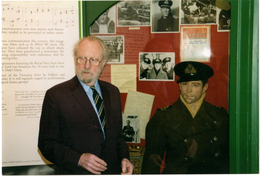 "John Worsley and ""Albert RN"" at an Eagle Society meeting in 1997. Photo: William Rudling"