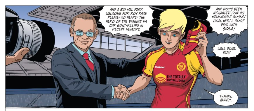 Gola's Harvey Jacobson with Roy Race in the upcoming graphic novel