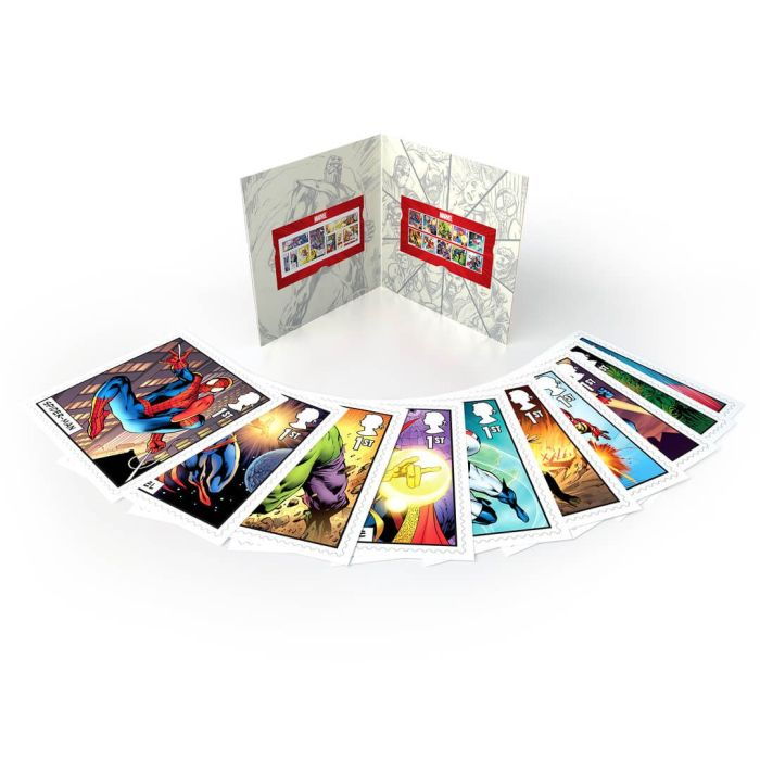 Royal Mail 2019 - Marvel Special Issue Stamps - Spider-Man Art Cards
