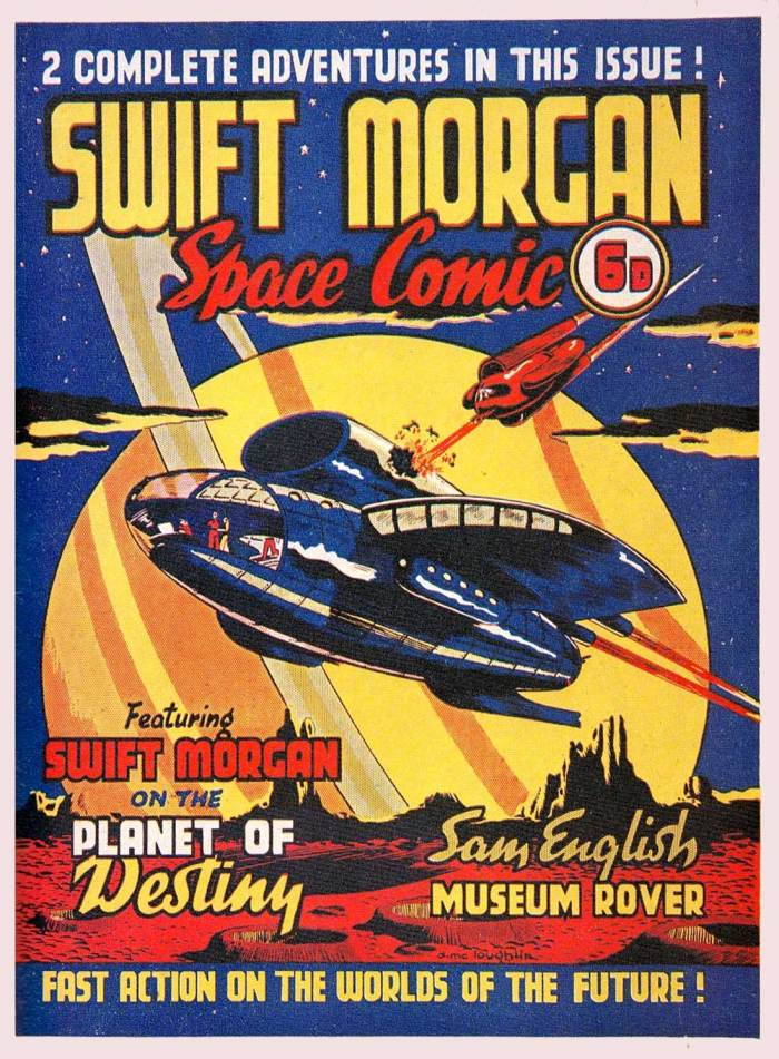 The cover of the Swift Morgan Space Comic published in March 1953