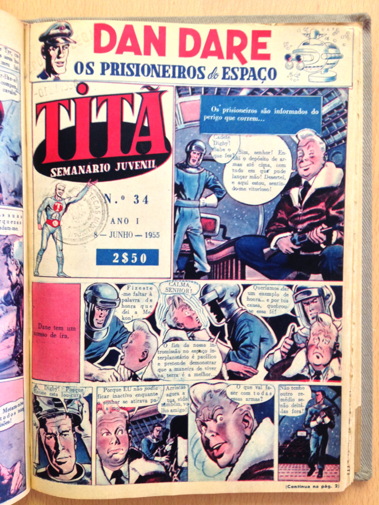 Titã Issue 34 featuring Dan Dare, published in Portugal