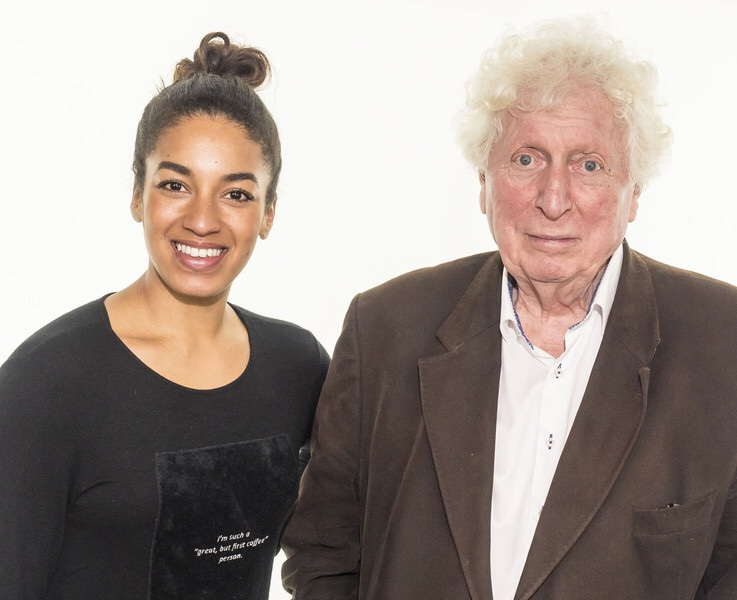 Rhianne Starbuck and Tom Baker. Photo courtesy Big Finish