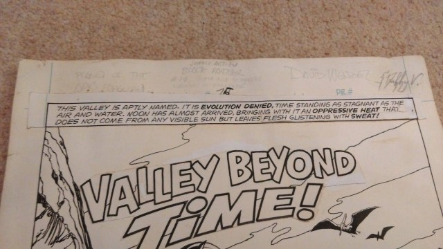 Close up signatures of David Wenzel and Duffy Vohland, who created this page