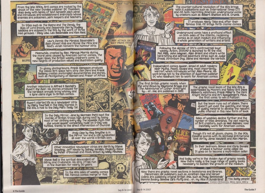 "The Guardian - Comics Britannia }The Guide"" Strip by Bryan Talbot"