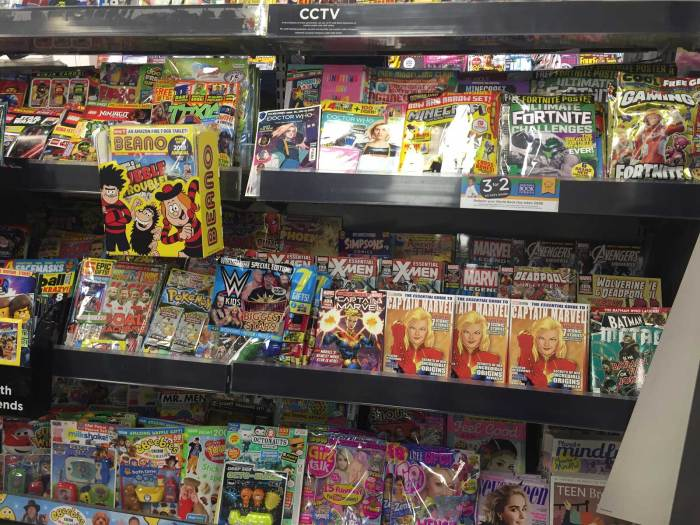 "Beano 3977 gets a great ""box out"" promotion in key WHSmith stores across the UK"