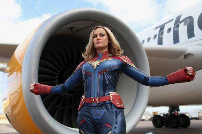 Madame Tussauds Blackpool Captain Marvel Figure