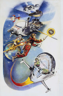 Dan Dare Science Museum Mural by Frank Hampson, created in the 1970s