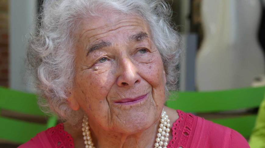 Judith Kerr on September 15, 2016 at Haus der Berliner Festspiele in Berlin at the section International Children's and Young Adult Literature of the 16th International Literature Festival Berlin. Photo: Christoph Rieger - Own work, CC BY-SA 4.0