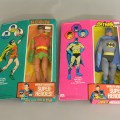 Vintage Rare Mego Batman and Robin 12 1/2 inch action figures in original boxes
