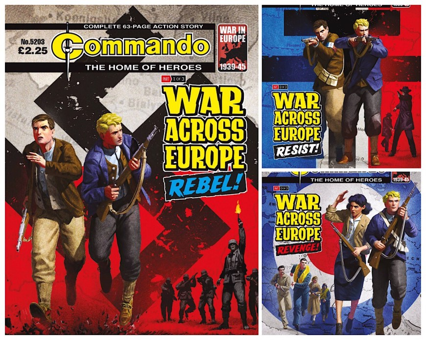 Commando - War Across Europe Montage