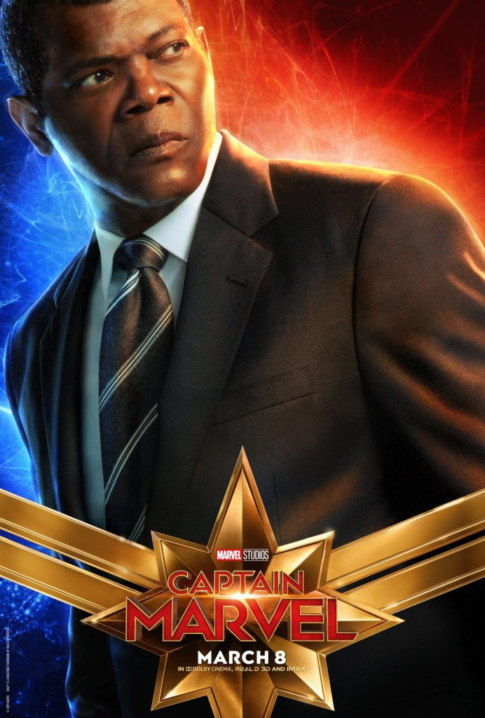 Samuel L. Jackson as Nick Fury - Captain Marvel Film Poster