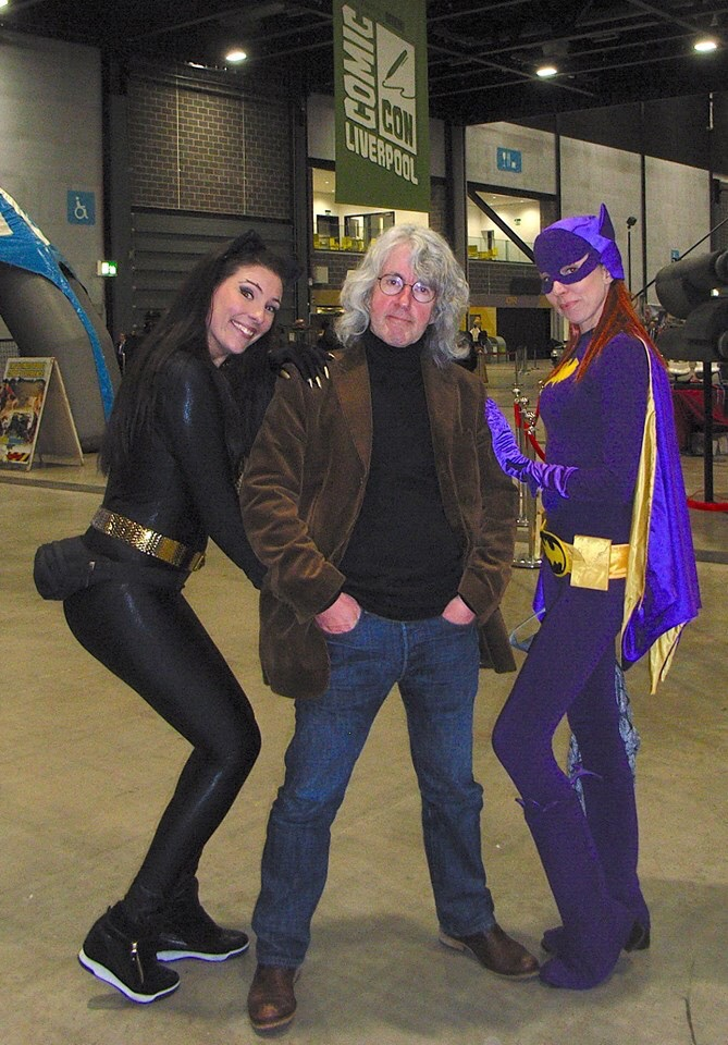 Heroes! editor Tim Quinn and friends at Liverpool Comic Con 2019