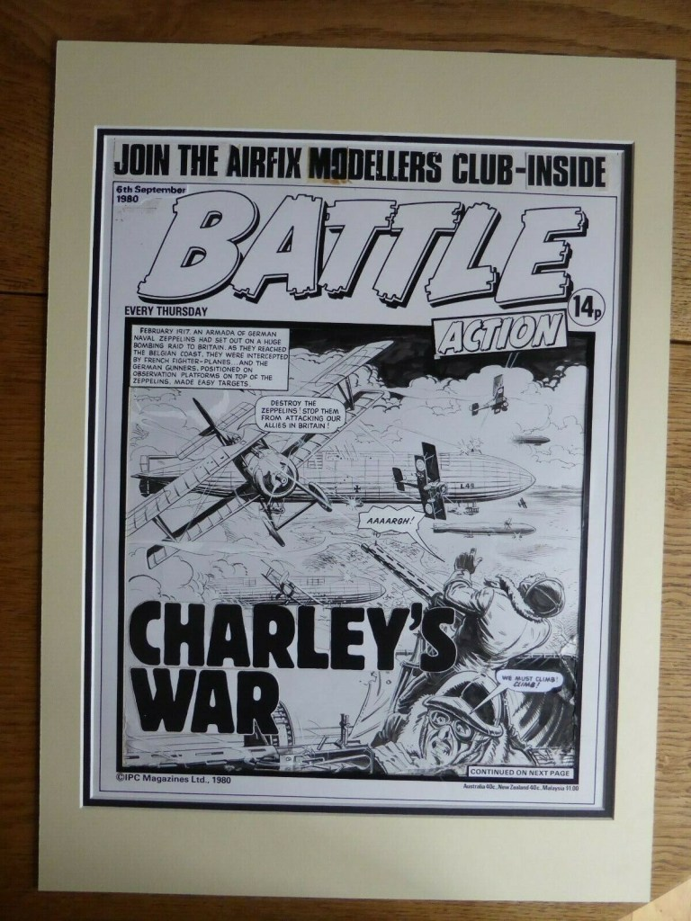 A genuine Battle Picture Weekly cover by Joe Colquhoun