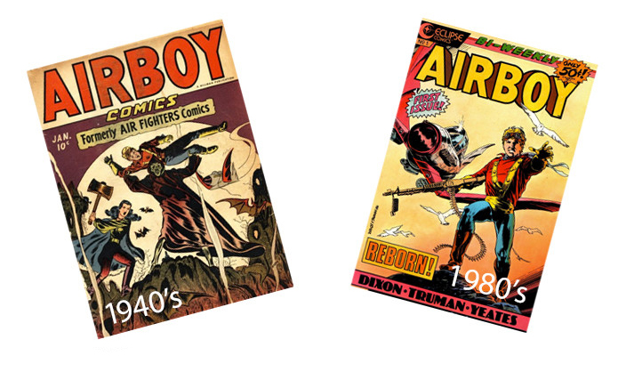 Golden Age Airboy Covers