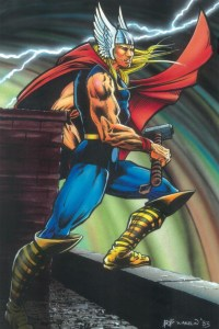 Art by Bob Wakelin for Marvel UK's shirt-lived Thor comic (#2)