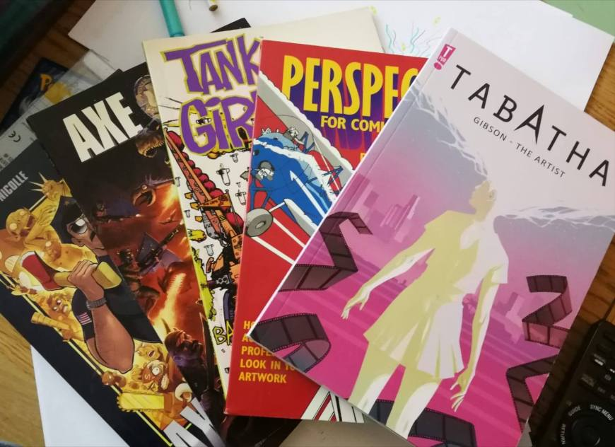 Comics donated by show co-host Dan Butcher for the Awesome Comics Podcast charity project organised by Richard Sheaf for Free Comic Book Day 2019