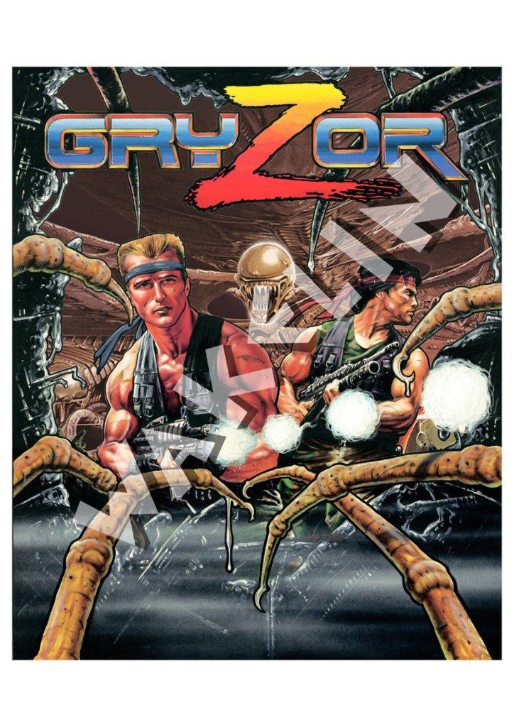 Gryzor - Ocean Software Cover Art by Bob Wakelin