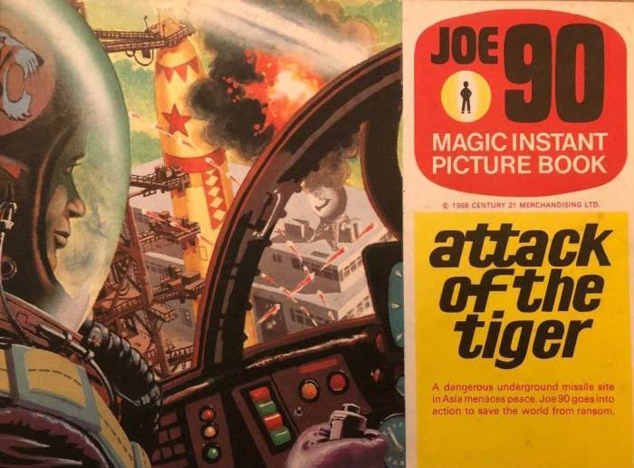 """Based on the episode Attack Of The Tiger, this """"Magic Instant Picture Book"""" from Letraset - one of two released in 1968 - features a seven page black and white comic strip, and a colour centre spread on which to rub down the instant pictures. But was it offered as a premium with a cereal as well as being on sale in shops?"""