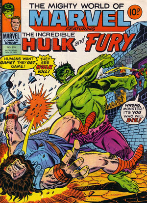 Mighty World of Marvel 270 Cover dated 30th November 1977