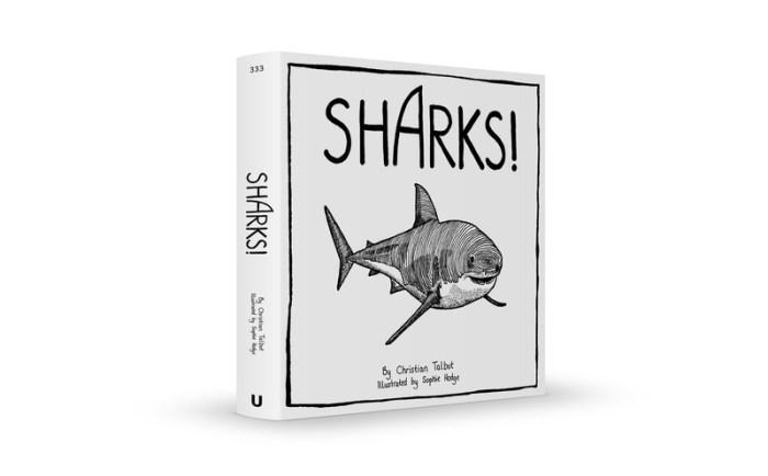 SHARKS! by Christian Talbot and artist Sophie Hodge
