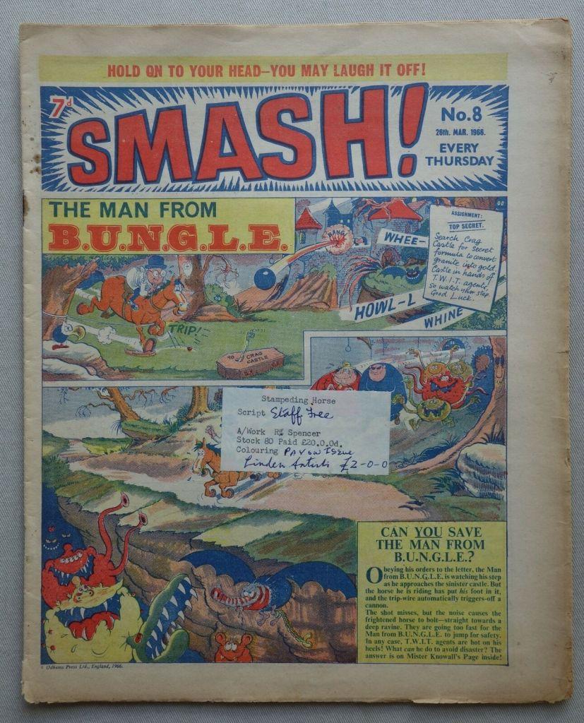 Smash comic #8 - 26 Mar 1966 ODHAMS PRESS REFERENCE COPY