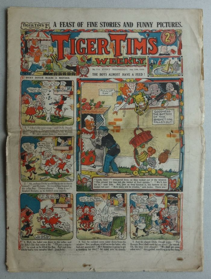 Tiger Tim's Weekly - Issue 712 - cover dated 13th July 1935