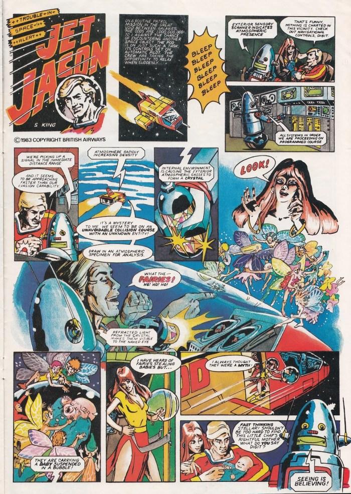 """""""Jet Jason"""" for Fleetwings Winter 1983 - art by S. King"""