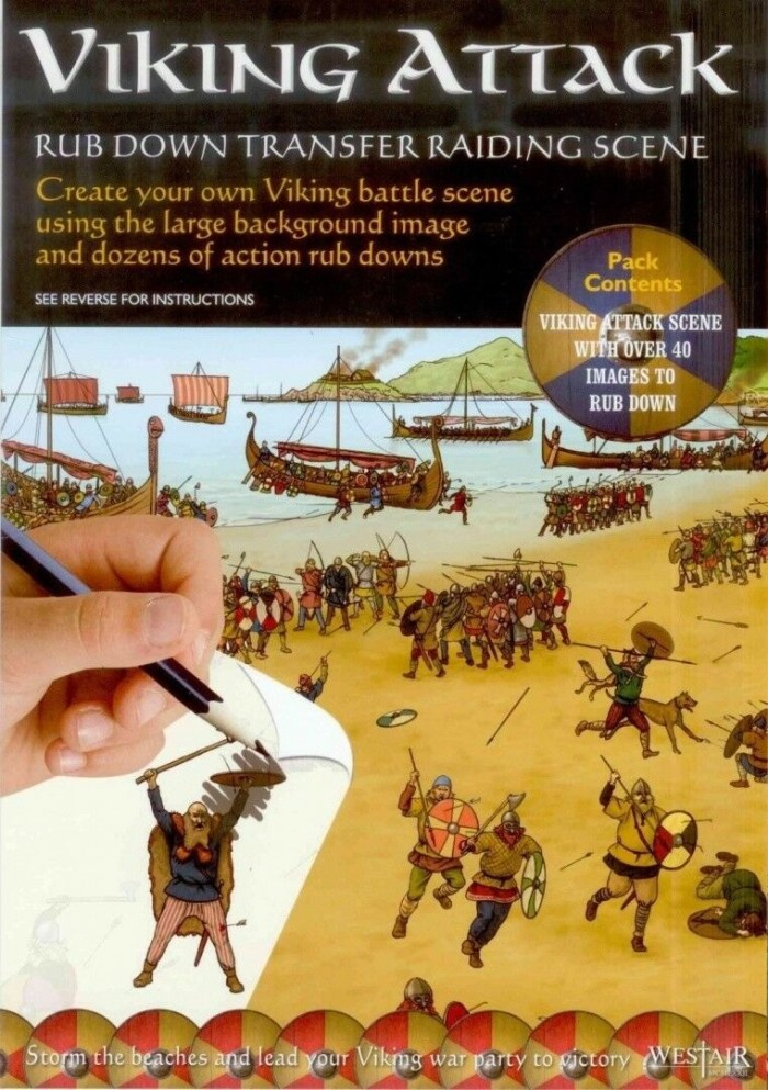 "Westair Reproductions ""Viking Attack"" Rub-Down Transfers"