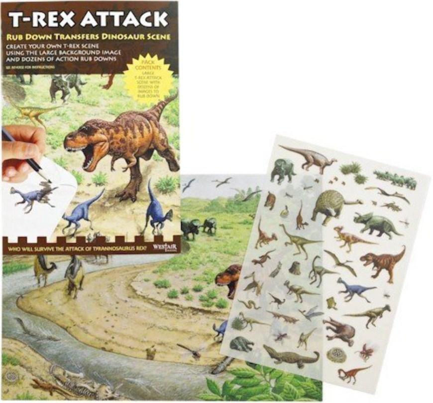 "Westair Reproductions ""Dinosaur Attack"" Rub-Down Transfers"