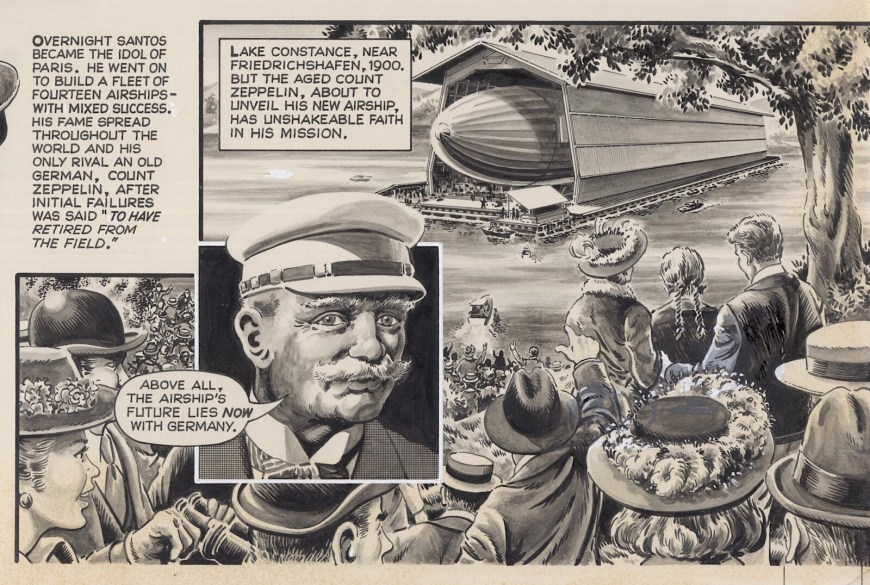 """""""Ships of the Sky"""", art by David Slinn, commissioned for the Lightning comic project. With thanks to David Slinn"""