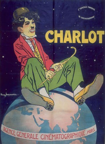 Charlie Chaplin film publicity poster: Charlot