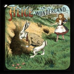 Alice in Wonderland Magic Lantern Slide - Undated
