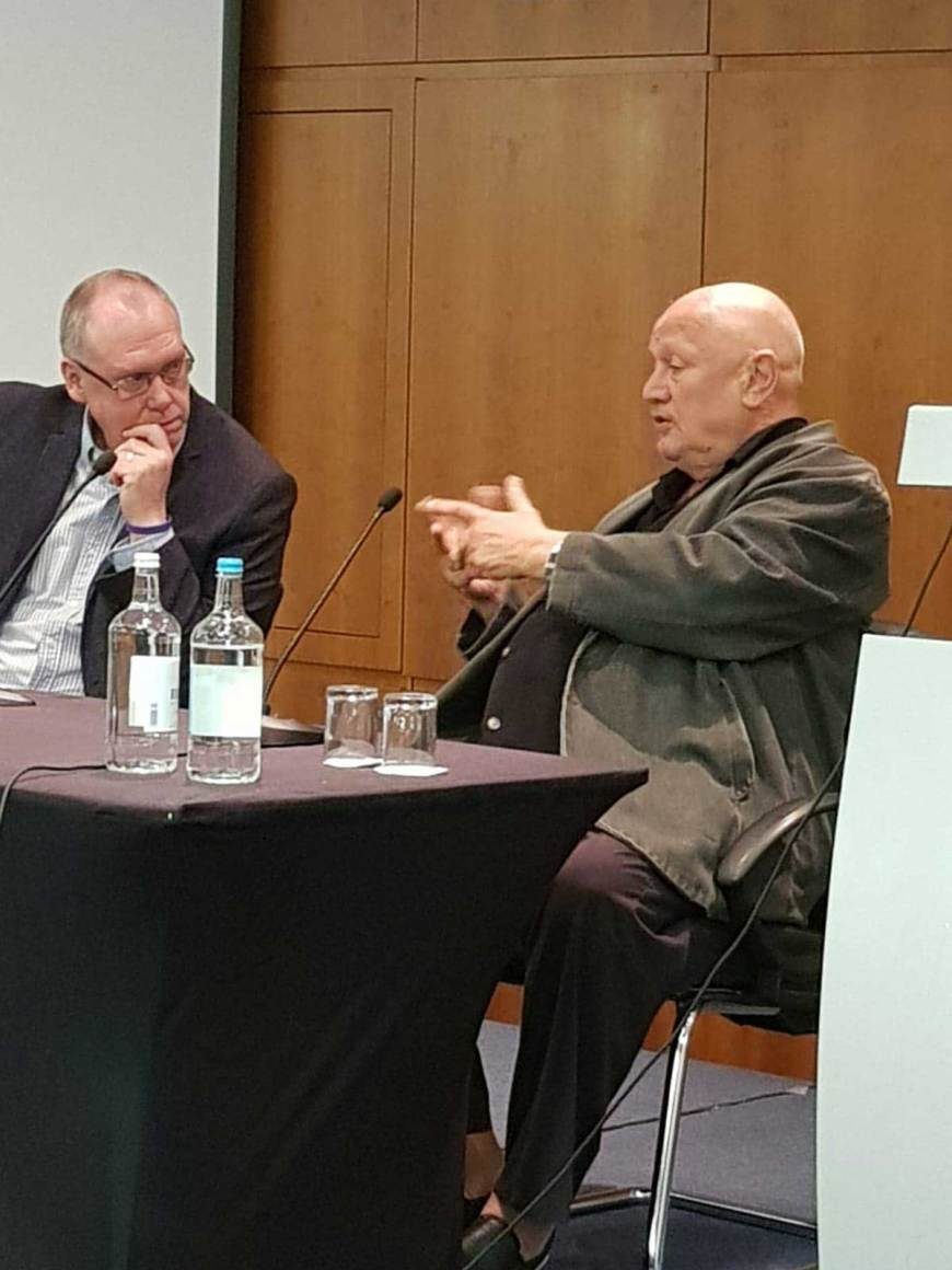 Actor Steven Berkoff at Capitol IV. Image: Doctor Who Appreciation Society