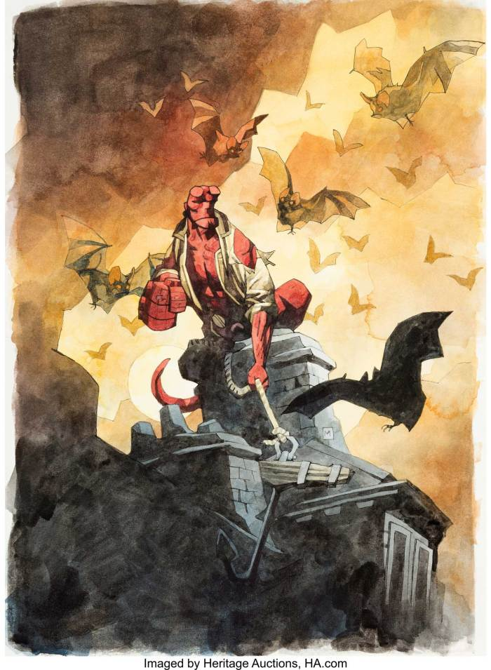 Hellboy: Oddest Jobs Cover Painting by Mike Mignola